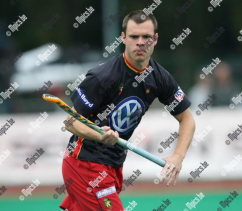 2008-06-15 / Hockey / België - Australië / Charles Vandeweghe..Foto: Maarten Straetemans (SMB)