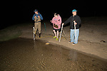 Mike Long , Karen Strauss & Jerry Hequembourg  On Horseshoe Crab Survey