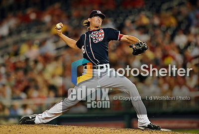 16 May 2012: Washington Nationals pitcher Tyler Clippard on the mound against the Pittsburgh Pirates at Nationals Park in Washington, DC. The Nationals defeated the Pirates 7-4 in the first game of their 2-game series. Mandatory Credit: Ed Wolfstein Photo