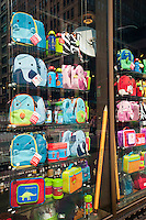 Back to school supplies in a store window in New York on Saturday, August 25, 2012. The back to school shopping season is the second busiest time for retailers after Christmas.  (© Richard B. Levine)