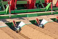 Four row potato planting - Lincolnshire, April