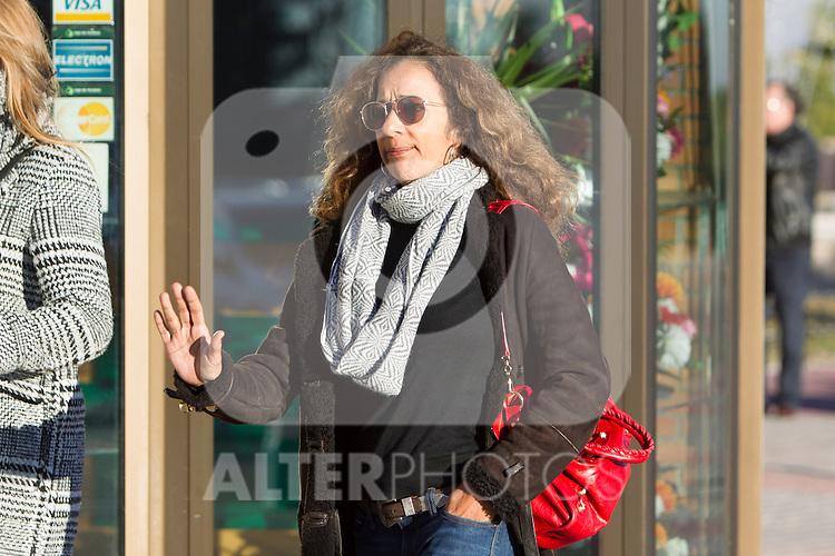Spanish singer Rosario Flores arrived to the wake of Bimba Bose at the La Paz tannery in Madrid. Spain. January 24th 2017. (ALTERPHOTOS/Rodrigo Jimenez)