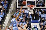 14 March 2015: North Carolina's Brice Johnson. The Notre Dame Fighting Irish played the University of North Carolina Tar Heels in an NCAA Division I Men's basketball game at the Greensboro Coliseum in Greensboro, North Carolina in the ACC Men's Basketball Tournament quarterfinal game. Notre Dame won the game 90-82.
