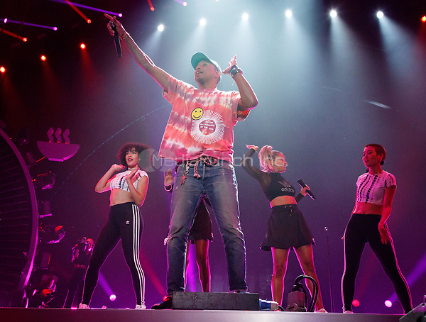 Pharrell Williams performs at the first Global Citizen Festival concert in Hamburg, Germany, 6 July 2017. Photo: Sina Schuldt//dpa /MediaPunch ***FOR USA ONLY***