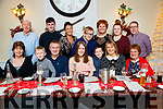Emily Molloy The Spa, who celebrated her 18th with family and friends, at the Denny Lane Restaurant, Tralee on Friday night last, front l-r: Barbara Hudson with Adam, Oliver, Emily, Ryan, Claire and Dolly Molloy. Back l-r: John Boyle, Graham Hudson, Mandy Hudson, Kevin Molloy, Trish Moran Hazel Moran and Ger Moran.