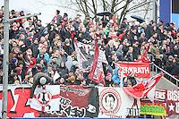 Fans aus Düsseldorf - FSV Frankfurt vs. Fortuna Düsseldorf, Frankfurter Volksbank Stadion