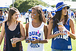 Duke students tailgate before the Duke-Virginia football game in Krzyzewskiville.