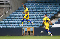 Rhian Brewster of Swansea City scores the first goal for his team and celebrates during Millwall vs Swansea City, Sky Bet EFL Championship Football at The Den on 30th June 2020
