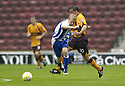 18/08/2007       Copyright Pic: James Stewart.File Name : sct_jspa12_motherwell_v_kilmarnock.PHIL O'DONNELL TAKES OUT STEVEN NAISMITH....James Stewart Photo Agency 19 Carronlea Drive, Falkirk. FK2 8DN      Vat Reg No. 607 6932 25.Office     : +44 (0)1324 570906     .Mobile   : +44 (0)7721 416997.Fax         : +44 (0)1324 570906.E-mail  :  jim@jspa.co.uk.If you require further information then contact Jim Stewart on any of the numbers above........