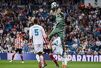 Real Madrid Raphael Varane and Keylor Navas during La Liga match between Real Madrid and Athletic Club at Santiago Bernabeu Stadium in Madrid. April 19, 2017. (ALTERPHOTOS/Borja B.Hojas) /NortePhoto.com