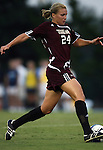 07 September 2007: Texas A&M's Ashlee Pistorius. The University of North Carolina Tar Heels defeated the Texas A&M University Aggies 2-1 at Fetzer Field in Chapel Hill, North Carolina in an NCAA Division I Women's Soccer game, and part of the annual Nike Carolina Classic tournament.