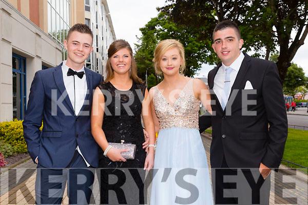 Having a great time at the Rathmore debs at Brandon Hotel on Thursday were  l-r Dan Cronin, Ciara Cremmin, Maria O'Callaghan and Shane O'Callaghan