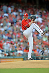 19 May 2012: Washington Nationals pitcher Ross Detwiler on the mound against the Baltimore Orioles at Nationals Park in Washington, DC. The Orioles defeated the Nationals 6-5 in the second game of their 3-game series. Mandatory Credit: Ed Wolfstein Photo