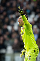 Goalkeeper Adrian of West Ham United during the Premier League match between West Ham United and Chelsea at the Olympic Park, London, England on 9 December 2017. Photo by Andy Rowland.
