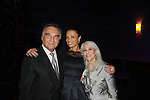 """One Life To Live's Valarie Pettiford """"Sheila Price"""" and Another World poses with Tony LoBianco (Love of Life) and host Jamie deRoy as Valarie sings as a part of Jamie deRoy & friends on March 18, 2012 at Metropolitan Room, New York City, New York.  (Photo by Sue Coflin/Max Photos)"""