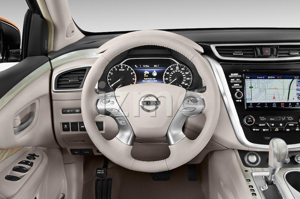 Car pictures of steering wheel view of a 2015 Nissan Murano Platinum 5 Door SUV Steering Wheel