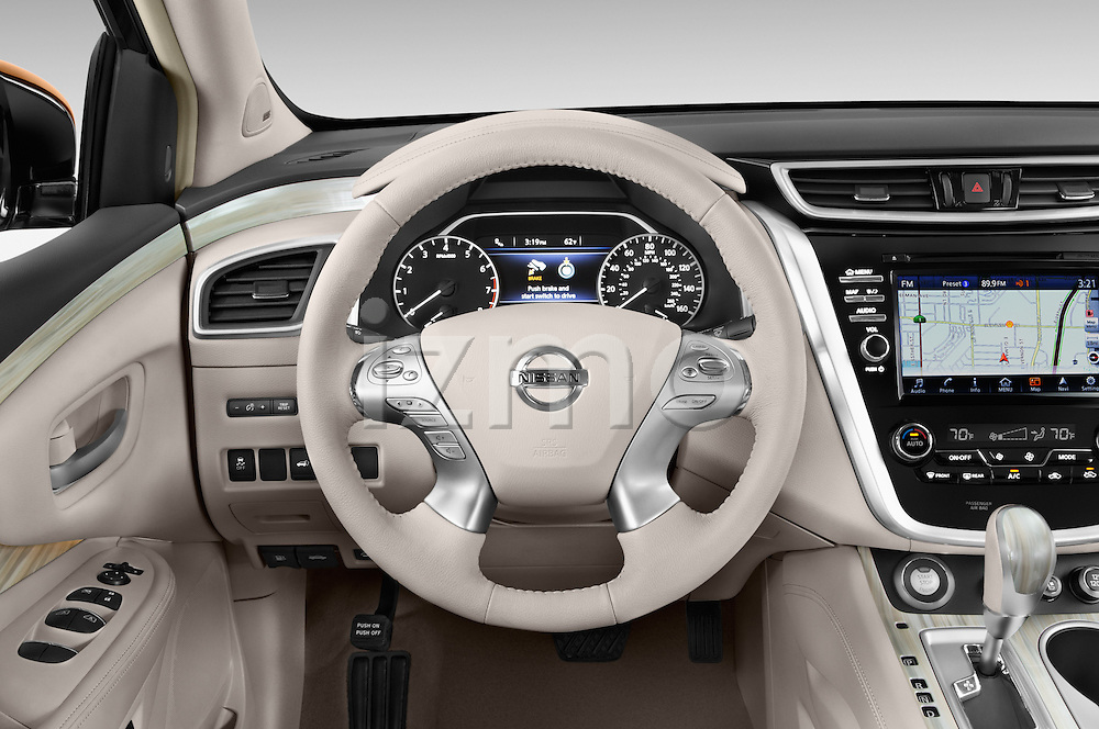 Car pictures of steering wheel view of a 2018 Nissan Murano Platinum 5 Door SUV Steering Wheel