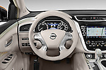 Car pictures of steering wheel view of a 2015 Nissan Murano Platinum 5 Door SUV Steering Wheel