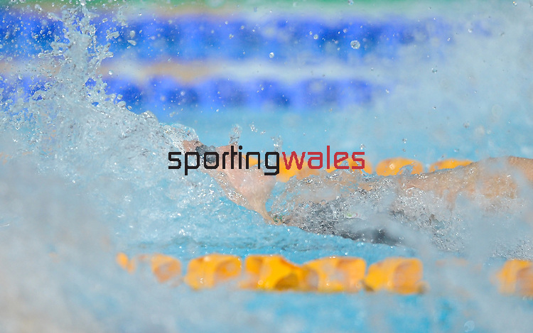 Wales Georgia Davies in action during the 50m Backstroke<br /> <br /> Photographer Ian Cook/Sportingwales<br /> <br /> 20th Commonwealth Games -Swimming -  Day 6 - Tuesday 29th July 2014 - Glasgow - UK