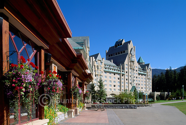 Whistler Blackcomb Resort, BC, British Columbia, Canada - Restaurant and Fairmont Chateau Whistler, Summer