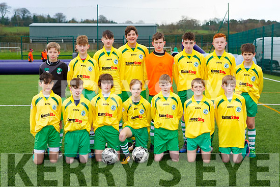 The Killarney Celtic team that played Shelbourne in the FAI cup in Celtic Park on Saturday