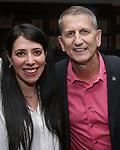 Rachel Clavkin and Tom Kirdahy during the Robert Whitehead Award Ceremony honoring Tom Kirdahy at Sardi's on 5/22/2019 in New York City.