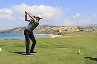 Federico Maccario (ITA) during the second round of the Rocco Forte Sicilian Open played at Verdura Resort, Agrigento, Sicily, Italy 11/05/2018.<br /> Picture: Golffile | Phil Inglis<br /> <br /> <br /> All photo usage must carry mandatory copyright credit (&copy; Golffile | Phil Inglis)