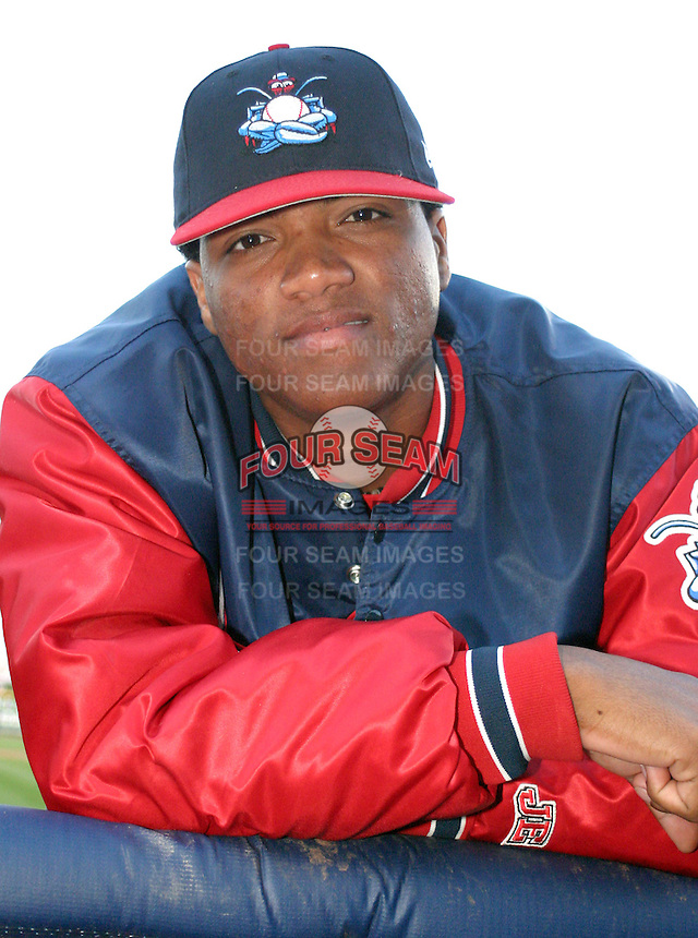 June 28, 2003:  Alfredo Simon (aka Carlos Cabrera) of the Lakewood Blueclaws, Class-A affiliate of the Philadelphia Phillies, during a South Atlantic League game at Classic Park in Eastlake, OH.  Photo by:  Mike Janes/Four Seam Images