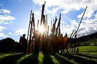 Brumadinho_MG, Brasil...Centro de Arte Contemporanea Inhotim (CACI). Na foto, vista da obra BEAN DROP, de Cris Burden...The Inhotim Contemporary Art Center (CACI). In this photo the art BEAN DROP, of Cris Burden...Foto: BRUNO MAGALHAES / NITRO.
