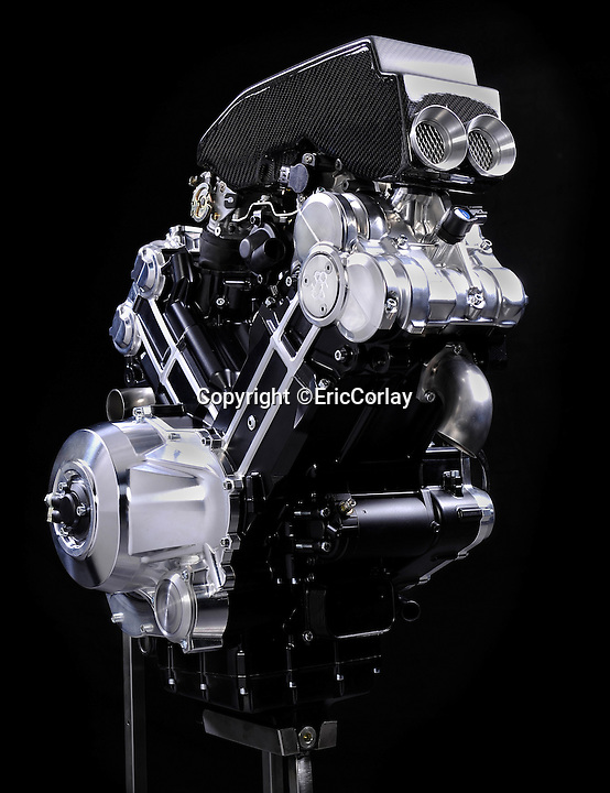 BNPS.co.uk (01202 55883)<br /> Pic: EricCorlay/BNPS<br /> <br /> ***Please Use Full Byline***<br /> <br /> Power - 140 hp 90 degree V twin engine.<br /> <br /> British icon back from the dead - The legendary Brough Superior rides again.  <br /> <br /> The first motorbikes to be made by the legendary Brough Superior marque in over 70 years are set to be rolled out onto British roads.<br /> <br /> The legendary British manufacturers of the 'Rolls Royce' of motorcycles are nearing completion of 300 brand new machines after a businessman bought the rights to the Brough Superior name in 2008.<br /> <br /> Mark Upham has already secured dozens of orders for the &pound;50,000 modern-day replicas of the vintage Brough Superior SS100 bikes that were the fastest machines in the world in the 1930s.<br /> <br /> The new gleaming models have a 1,000cc V-twin engine and a whopping 140bhp. They look almost indentical to the classic Brough bikes and have the same iconic 'saddle' petrol tank and speedo.