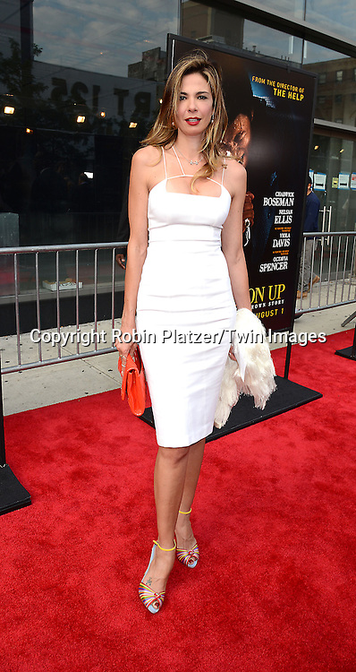 """Luciana Marad attend the World Premiere of """"Get On Up"""" at the Apollo Theater in Harlem in New York Citiy on July 21, 2014."""