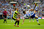 Yann Kermorgant of Reading attemps an overhead kick during the SkyBet Championship Play Off Final match at the Wembley Stadium, England. Picture date: May 29th, 2017.Picture credit should read: Matt McNulty/Sportimage