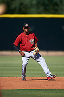 Arizona Diamondbacks Sergio Alcantara (1) during an instructional league game against the Los Angeles Angels / Chicago Cubs co-op team on October 9, 2015 at the Tempe Diablo Stadium Complex in Tempe, Arizona.  (Mike Janes/Four Seam Images)