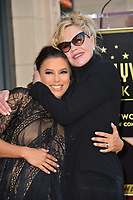 Eva Longoria &amp; Melanie Griffith at the Hollywood Walk of Fame Star Ceremony honoring actress Eva Longoria, Los Angeles, USA 16 April 2018<br /> Picture: Paul Smith/Featureflash/SilverHub 0208 004 5359 sales@silverhubmedia.com