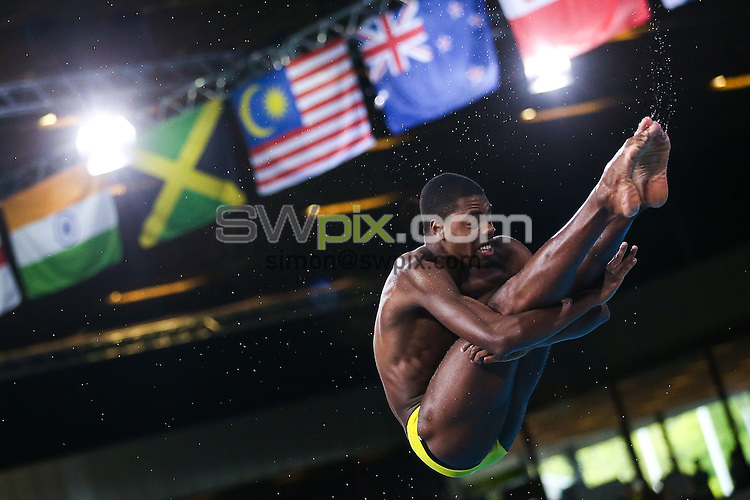 Picture by Alex Whitehead/SWpix.com - 31/07/2014 - 2014 Glasgow Commonwealth Games, Day 8 - Diving - Royal Commonwealth Pool, Edinburgh, Scotland - Jamaica's Yona Knight-Wisdom competes in the Men's 3m Springboard final.
