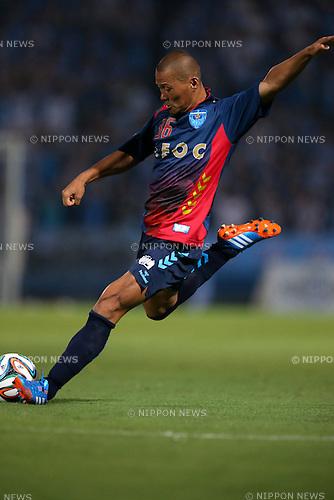 Yuki Matsushita (Yokohama FC), <br /> JULY 26, 2014 - Football /Soccer : <br /> 2014 J.LEAGUE Division 2 <br /> between Yokohama FC 4-0 Jubilo Iwata <br /> at NHK Spring Mitsuzawa Football Stadium, Kanagawa, Japan. <br /> (Photo by AFLO SPORT) [1205]