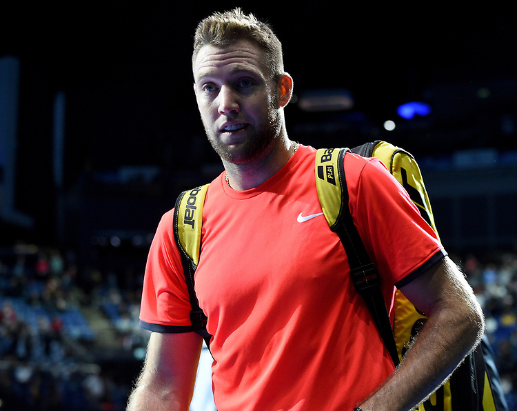 Jack Sock after winning against Marcelo Melo and Lukaz Kubot<br /> <br /> Photographer Hannah Fountain/CameraSport<br /> <br /> International Tennis - Nitto ATP World Tour Finals Day 2 - O2 Arena - London - Monday 12th November 2018<br /> <br /> World Copyright © 2018 CameraSport. All rights reserved. 43 Linden Ave. Countesthorpe. Leicester. England. LE8 5PG - Tel: +44 (0) 116 277 4147 - admin@camerasport.com - www.camerasport.com