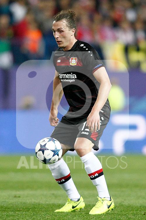 Bayer 04 Leverkusen's Julian Baumgartlinger during Champions League 2016/2017 Round of 16 2nd leg match. March 15,2017. (ALTERPHOTOS/Acero)