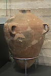 "Israel, Jerusalem, storage jar with stamped handles ""Belonging to the King, Hebron"" from Lachish, 8th century BC, at the Israel Museum"