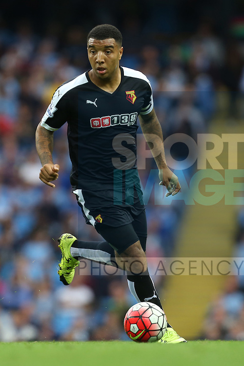 Troy Deeney of Watford - Manchester City vs Watford - Barclay's Premier League - Etihad Stadium - Manchester - 29/08/2015 Pic Philip Oldham/SportImage