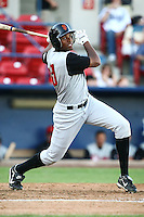 July 23 2008:  Damon Wright of the Salem-Keizer Volcanoes, Short Season Class-A affiliate of the San Francisco Giants, during a game at Home of the Avista Stadium in Spokane, WA.  Photo by:  Matthew Sauk/Four Seam Images