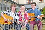 AUDITIONS: Member's of the band Rosewood competing in the Kerry's Got Talent auditions at the Carlton hotel, Tralee on Saturday l-r: Marcus O'Brien, Lucas Cronin and Kevin McCarthy.