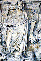 Greek Art:  Christ (and his Apostles) from Roman Sarcophagus.  End of 4th Century.  Louvre.