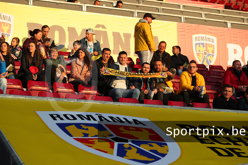 20191008 CLUJ NAPOCA: Romanian supporters are pictured before the match between Belgium Women's National Team and Romania Women's National Team as part of EURO 2021 Qualifiers on 8th of October 2019 at CFR Stadium, Cluj Napoca, Romania. PHOTO SPORTPIX | SEVIL OKTEM