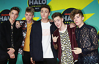 NEW YORK, NY - NOVEMBER 4: Daniel Seavey, Corbyn Besson, Jonah Marais, Zachary Herron and J of Why Don't We at the 2017 Nickelodeon Halo Awards at Pier 36 in New York City on November 4, 2017. Credit: RW/MediaPunch /NortePhoto.com