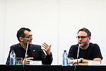 The director of the festival, Angel Sala and the american director Colin Trevorrow during the a press conference at Festival de Cine Fantastico de Sitges in Barcelona. October 08, Spain. 2016. (ALTERPHOTOS/BorjaB.Hojas)