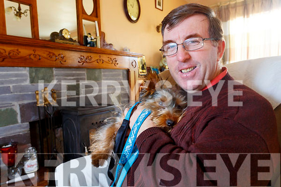 Ger O'Donoghue from Valentia Island is reunited with his dog Keanu who was taken from outside the Church in Loher 4 months ago and found in Dublin.
