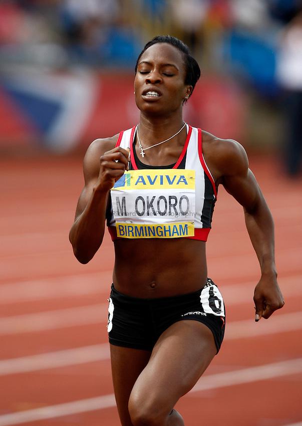 Photo: Richard Lane/Richard Lane Photography..Aviva World Trials & UK Championships athletics. 11/07/2009. Marilyn Okoro in a women's 800m semi..