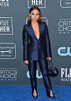 SANTA MONICA, USA. January 12, 2020: Aimee Carrero at the 25th Annual Critics' Choice Awards at the Barker Hangar, Santa Monica.<br /> Picture: Paul Smith/Featureflash