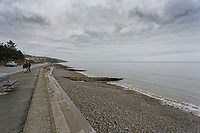 Amroth beach where Anna Strzelecki and her 13 year old daughter Jaz litter-pick in West Wales, UK. Monday 31 December 2018